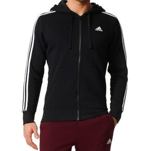 NWT Men's Adidas Jacket Hoodie Fleece Lined Warm